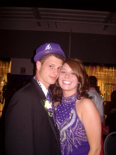 Baby sis Kaitlyn at the prom with Cameron