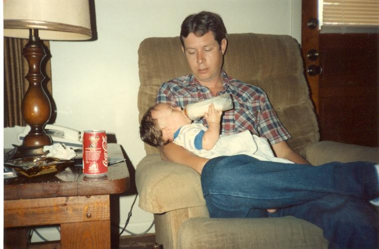 Andrew and Dad 1987